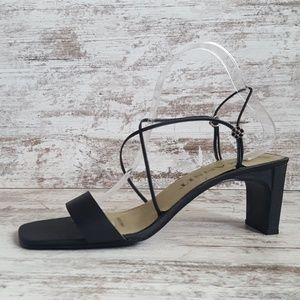 Like New Black Strappy Heeled Sandal